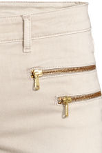 Skinny Low Biker Jeans - Light beige - Ladies | H&M CN 4
